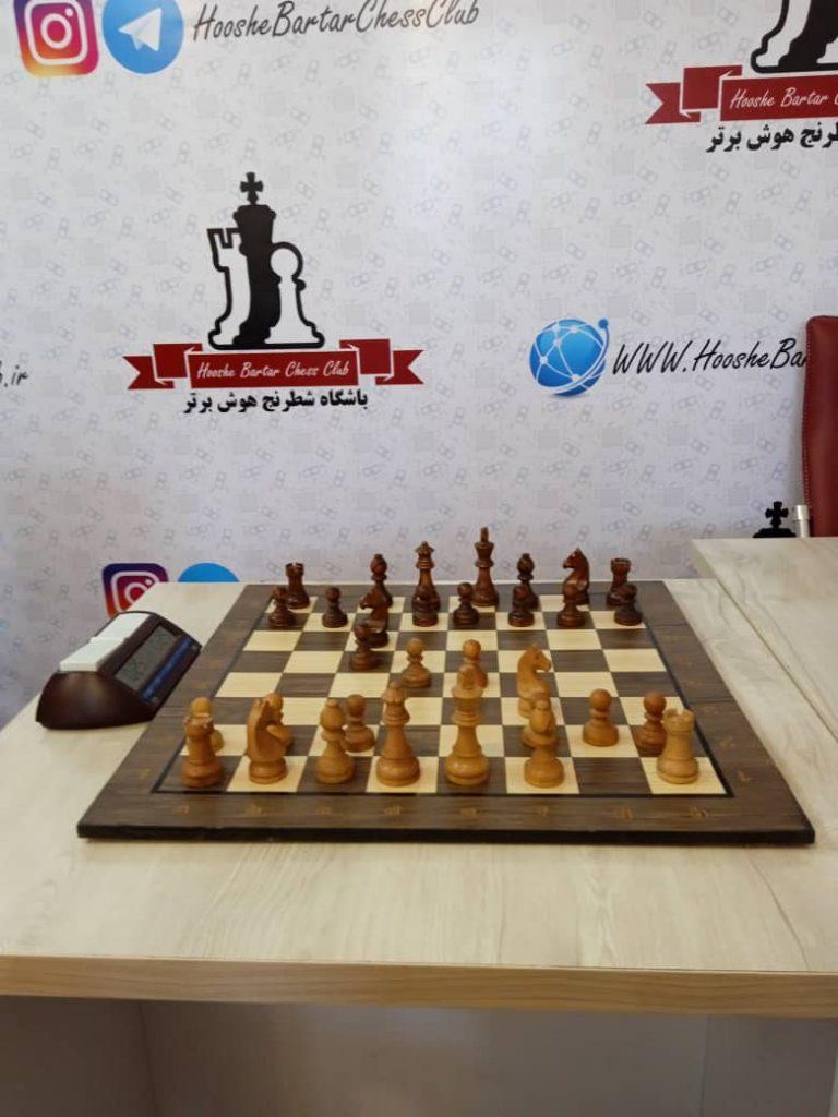 صفحه شطرنج چوبی استاندارد مسابقات